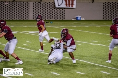 Brian Tannehill Lamarius Jackson (33) makes a stop deep ion the backfield on 3rd down vs Prattville on Friday August 21, 2020
