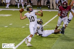 Brian Tannehill Robert Rose (10) throws a deep ball to set up the Indians only touchdown of the game against Prattville on Friday August 21, 2020